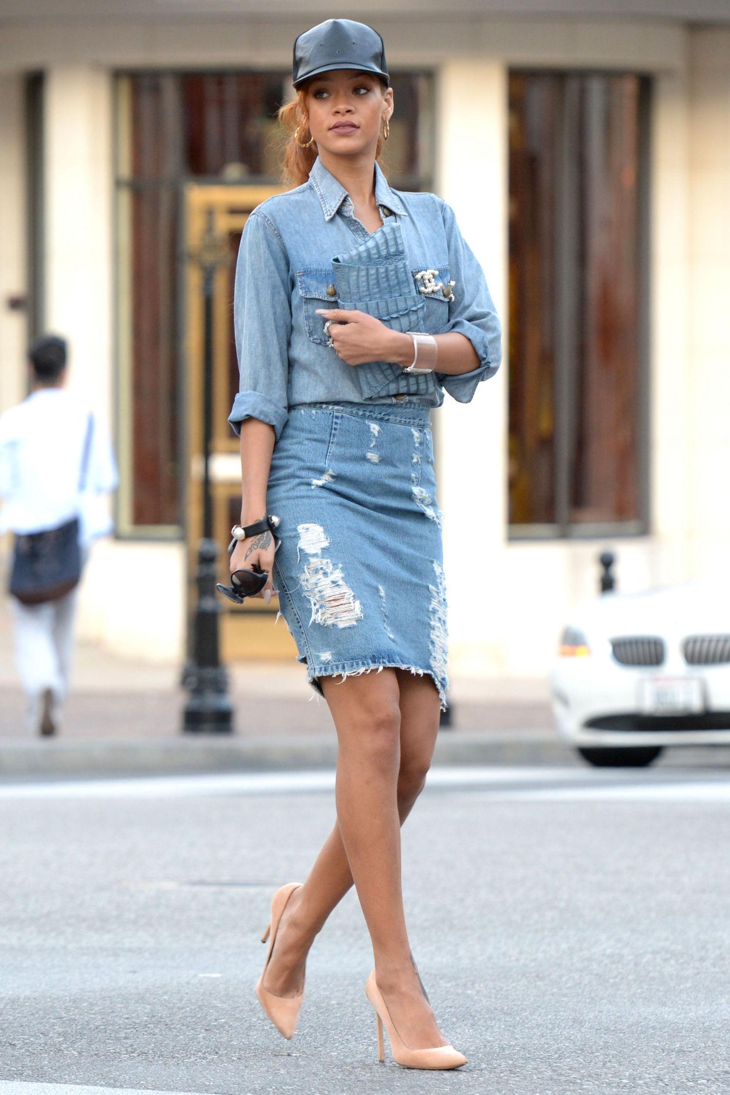 rihanna-denim-on-denim-outfit-jean-skirt-main