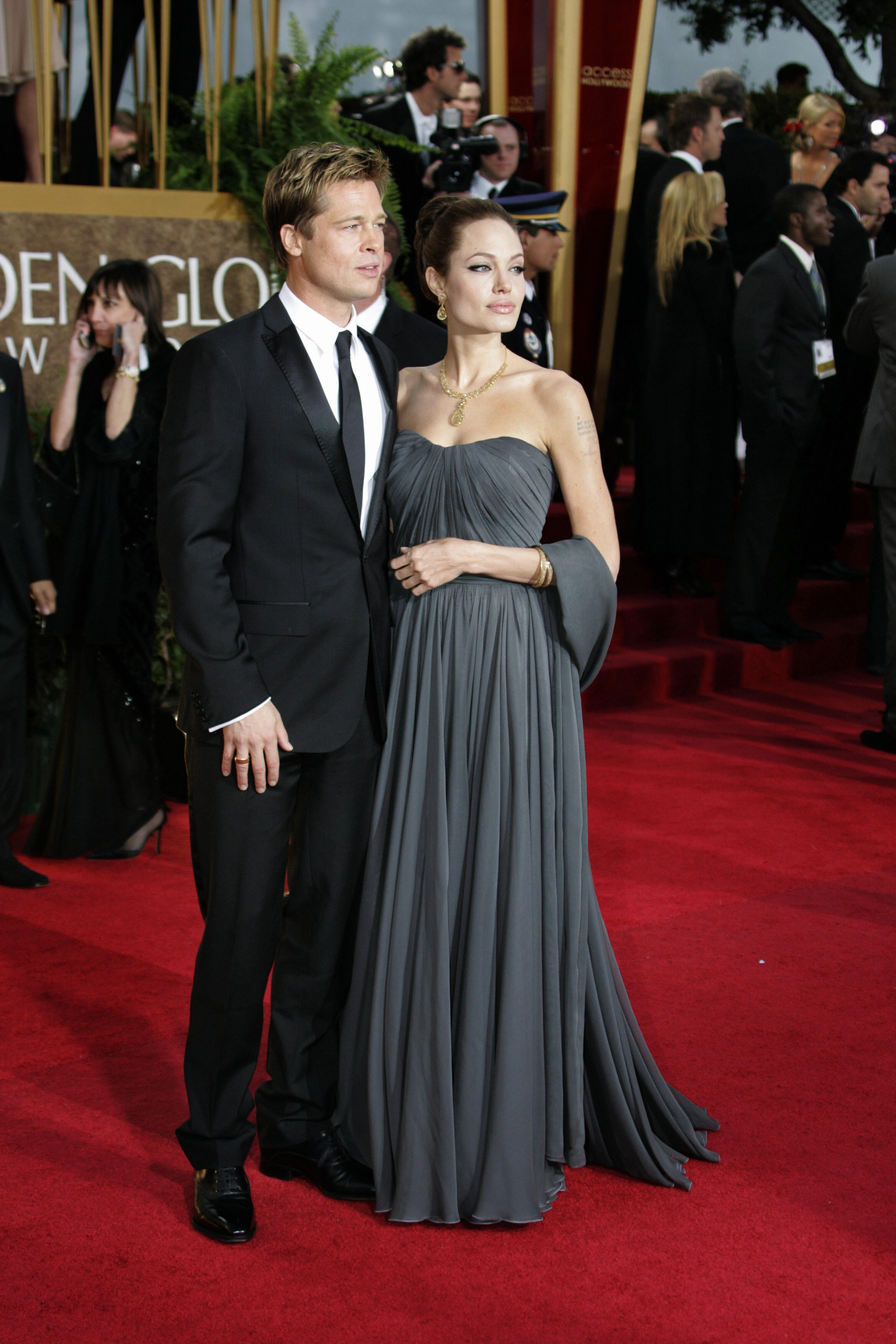 Angelina Jolie and Brad Pitt arrive 15 J